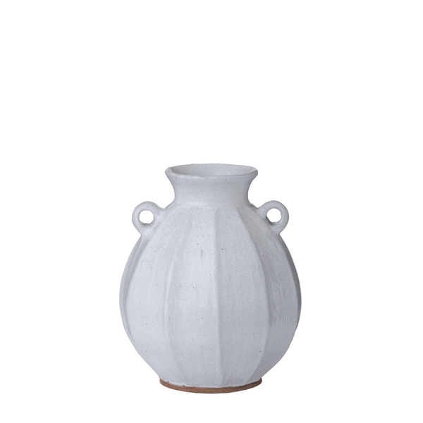 Vital vase with handles white