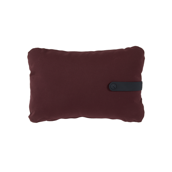 Colour mix cushion burgundy 44 x 30 cm