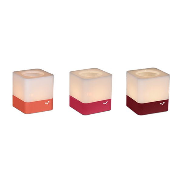 Cuub tealight holders set of 3 sunset