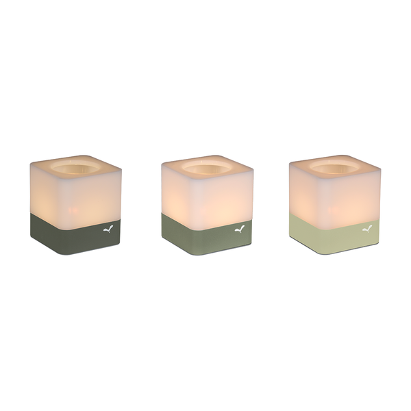 Cuub tealight holders set of 3 vegetal