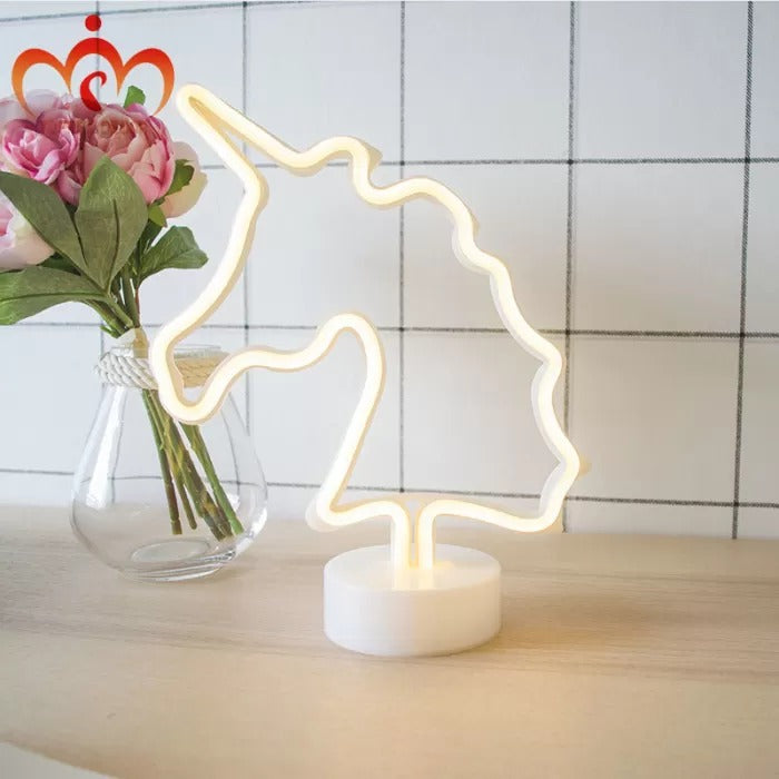 neon unicorn light