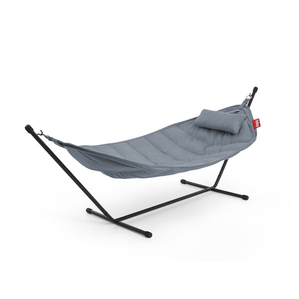hammock superb set with pillow steel blue