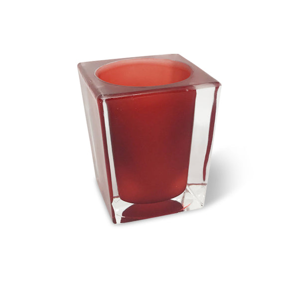 filini tower candle holder red