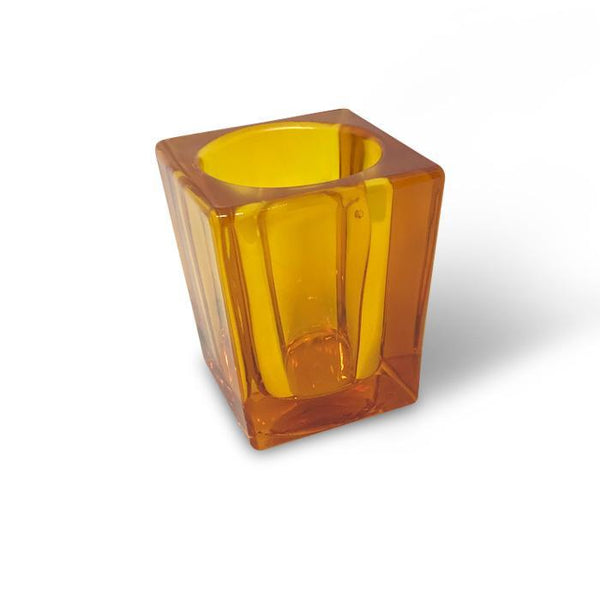filini tower candle holder orange