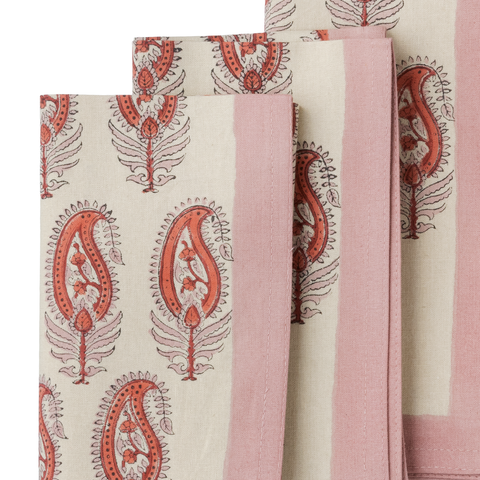 Napkin anjali red, set of 4
