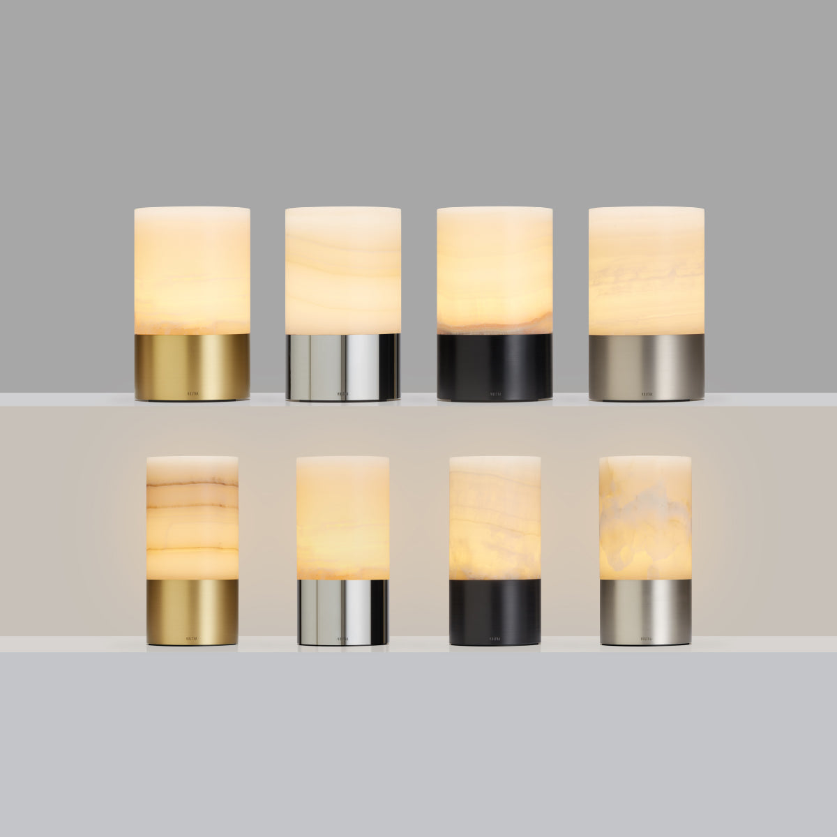totem: alabaster natural brass table light