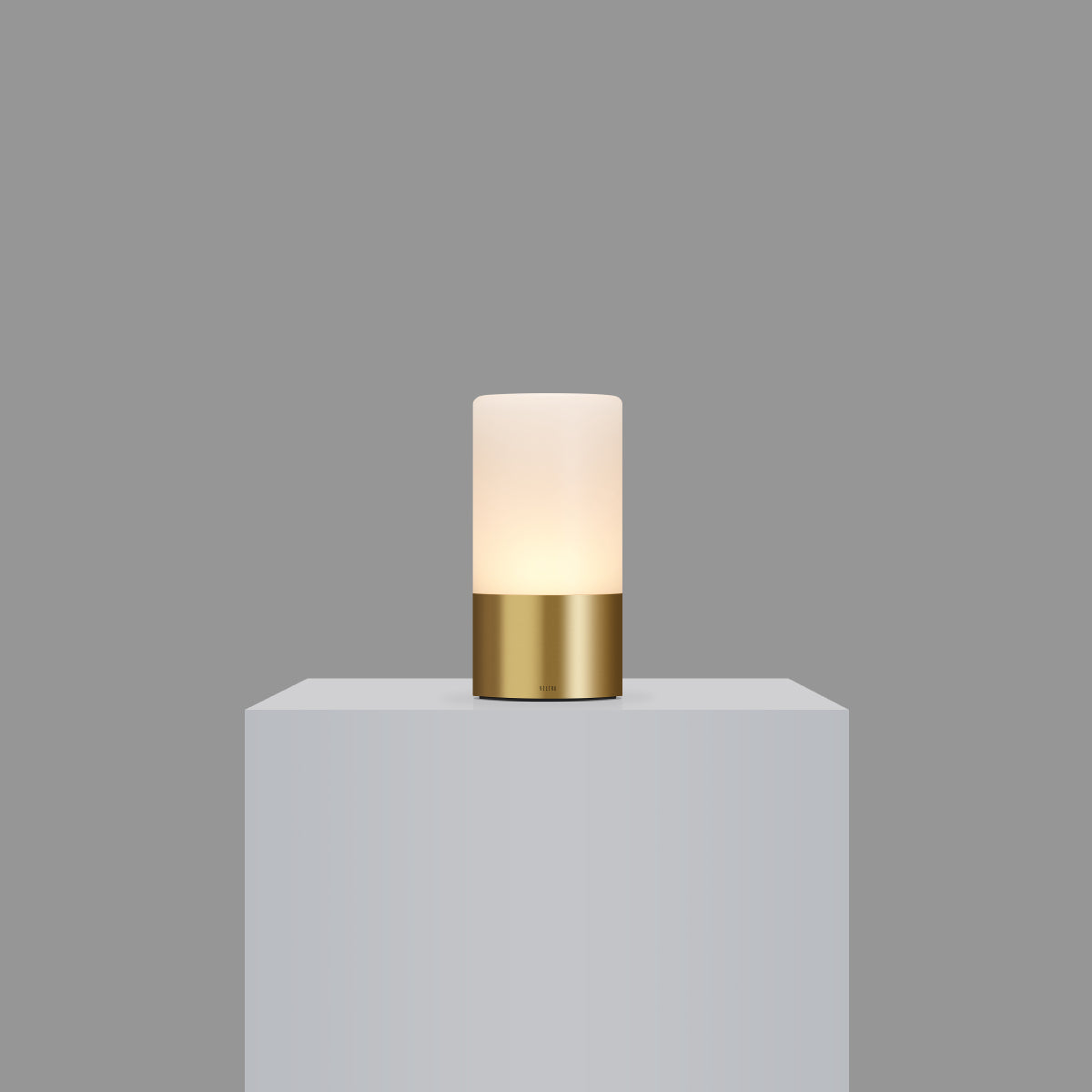 totem: frosted natural brass table light
