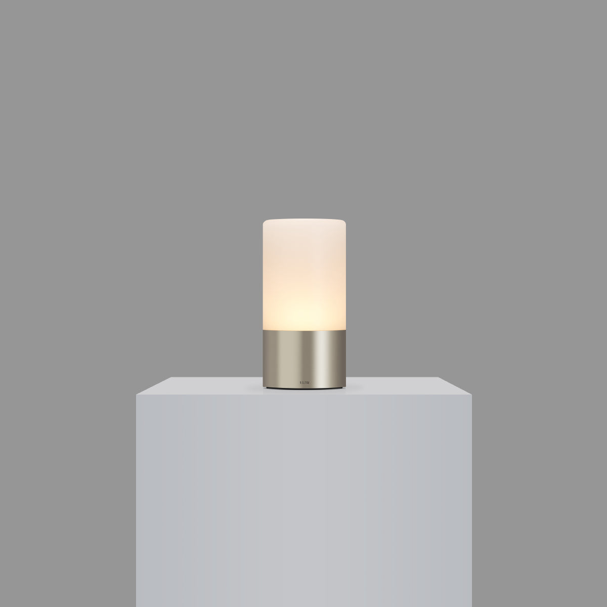 totem: frosted satin nickle table light