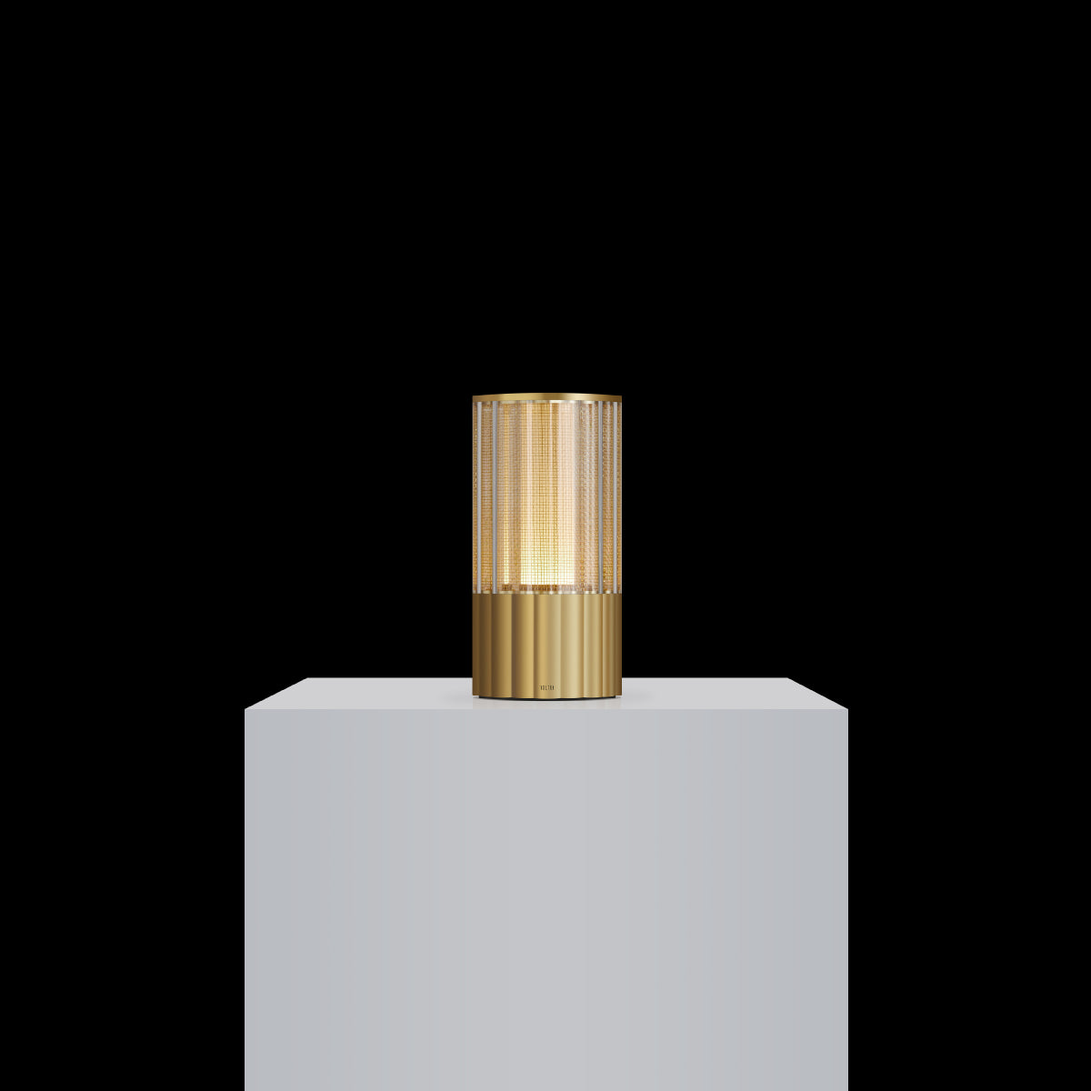 totem: reeded natural brass