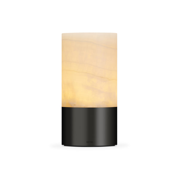 totem: alabaster antique bronze table light