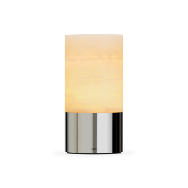 totem: alabaster polished chrome table light