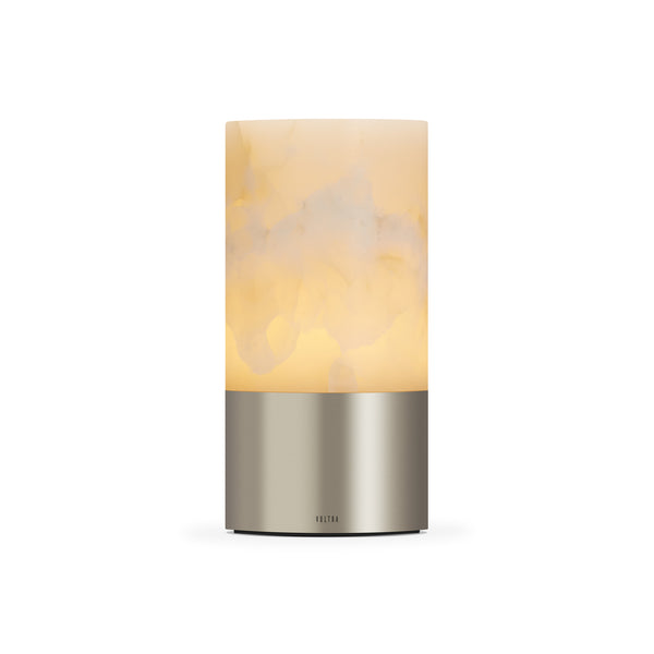 totem: alabaster satin nickle table light