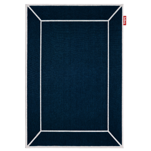 carpretty grand frame rug blue