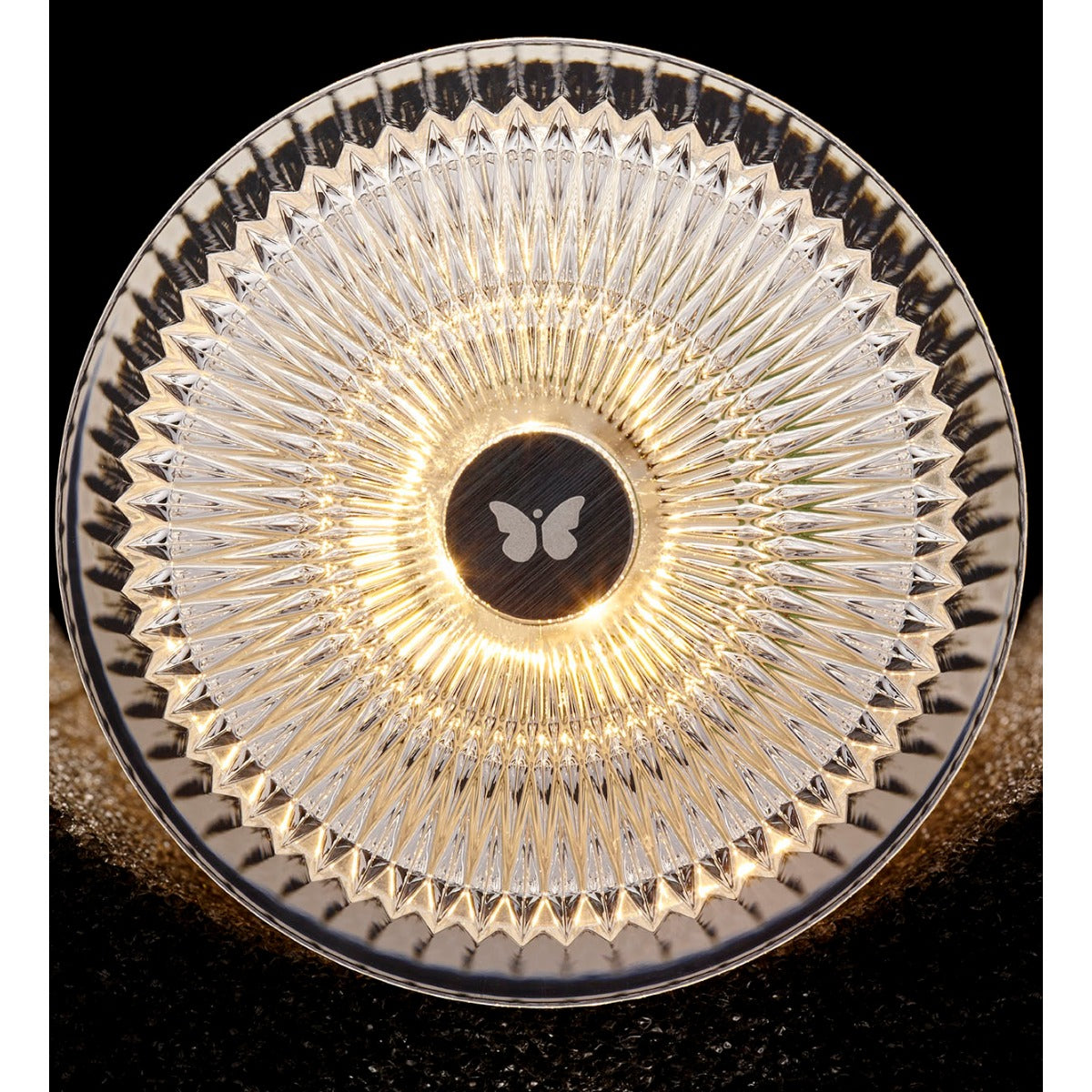 plisee glitter table light