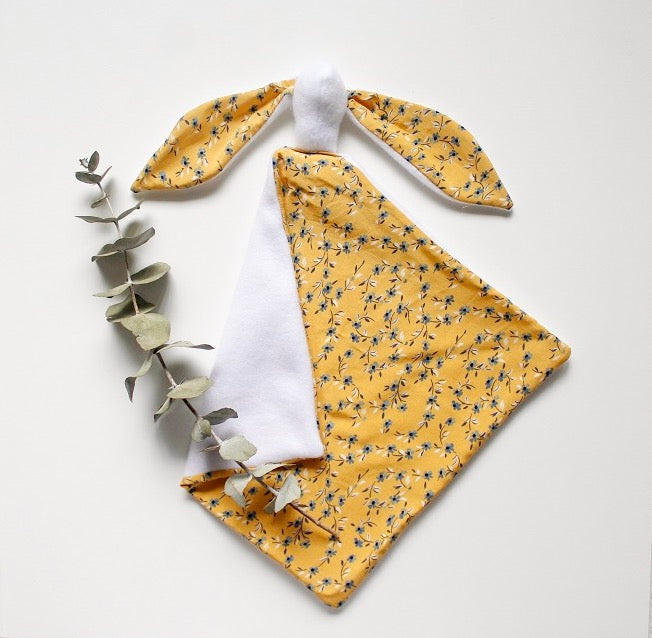 Bunny Lovey- Mustard Floral