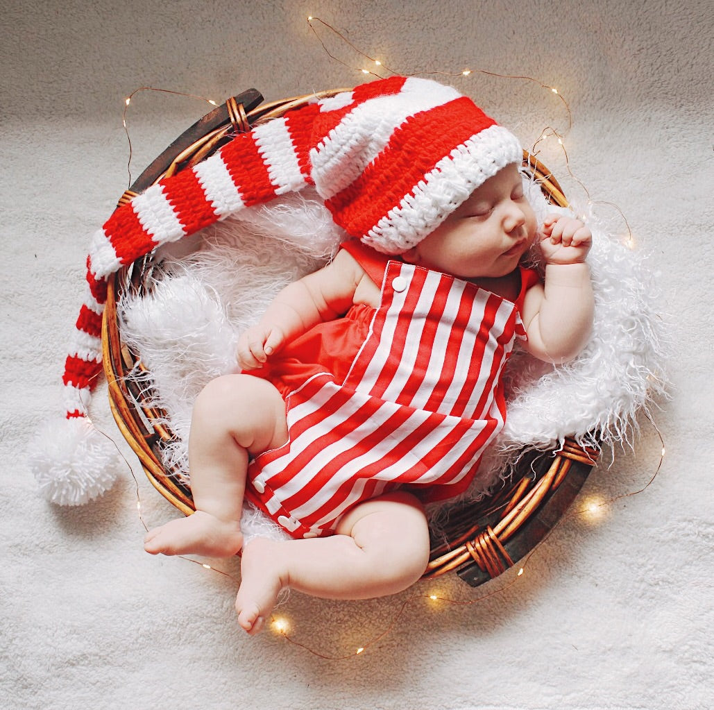Candy Cane Red Romper