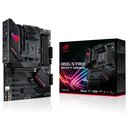 ASUS ROG STRIX B550-F GAMING - Carte mère ATX Socket AM4 AMD B550 - 4x DDR4 - SATA 6Gb/s + M.2 - USB 3.1 - 2x PCI-Express 3.0 16x - LAN 2.5 GbE