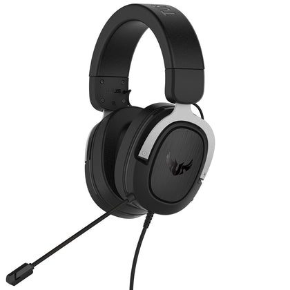ASUS TUF Gaming H3 (Argent) - Casque-micro filaire pour gamer - Son Surround 7.1 - Compatible PC / Mac / PS4 / Xbox 360 / Switch Casque Gaming