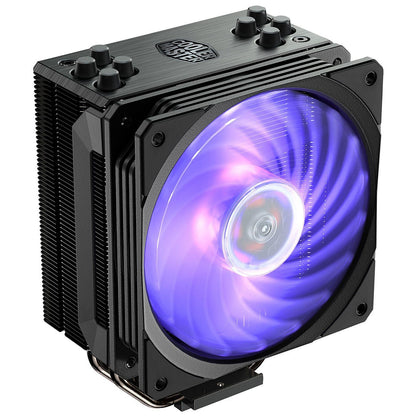 Cooler Master Hyper 212 RGB Black Edition - Ventilateur LED RGB pour processeur pour socket Intel et AMD