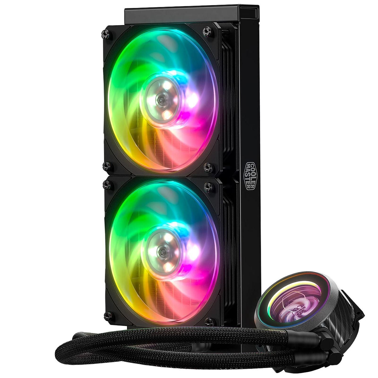 Cooler Master MasterLiquid ML240P Mirage - Kit de Watercooling RGB tout-en-un pour processeur