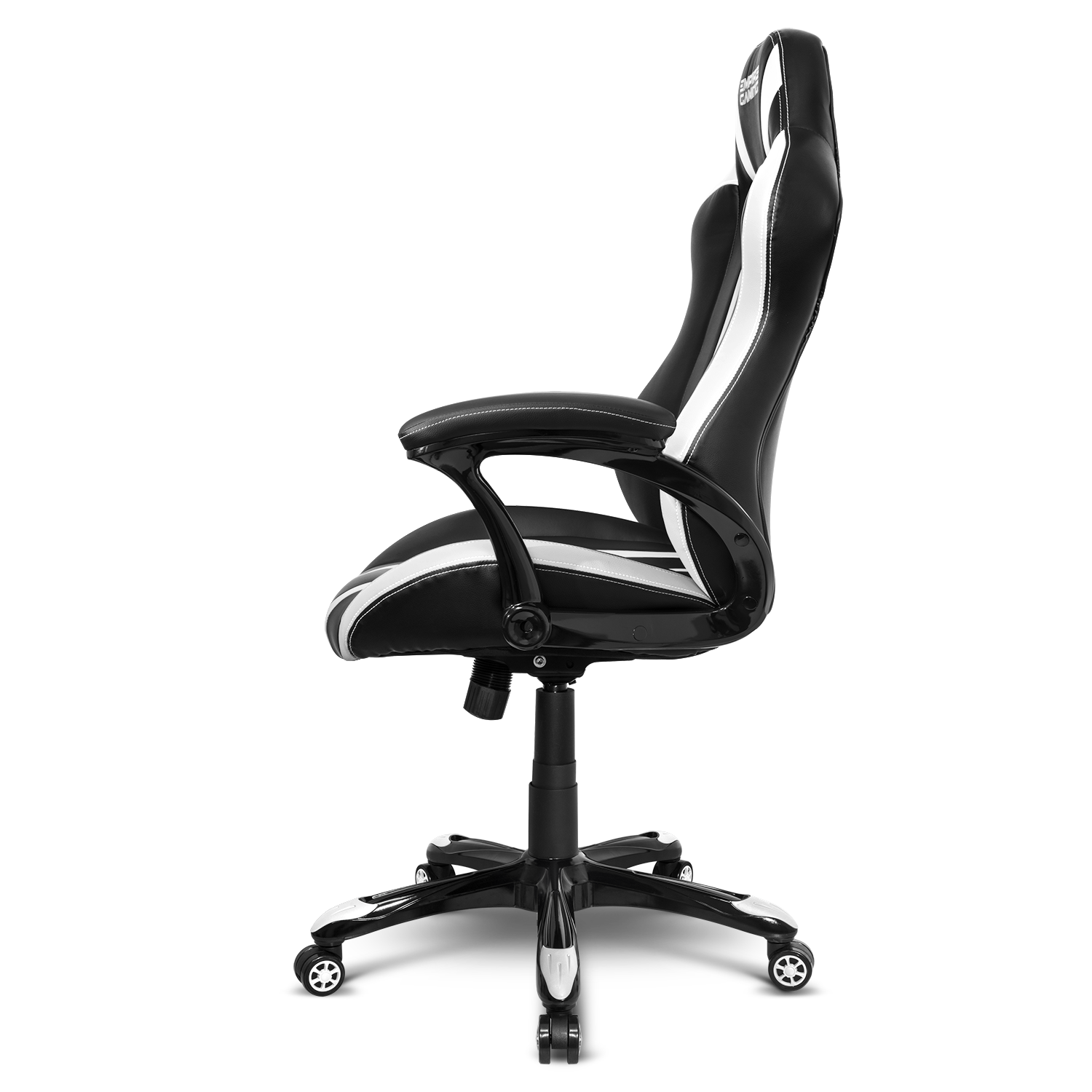 Empire Of Gaming - Racing 600 Blanc -   FAUTEUIL GAMER AVEC ACCOUDOIRS ULTRA CONFORTABLES ET MOELLEUX