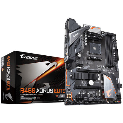 Gigabyte B450 AORUS ELITE - Carte mère ATX Socket AM4 AMD B450 - 4x DDR4 - SATA 6Gb/s + M.2 - USB 3.0 - 2x PCI-Express 3.0 16x