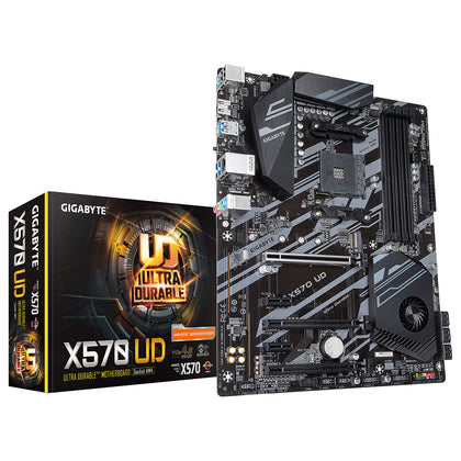 Gigabyte X570 UD - Carte mère ATX Socket AM4 AMD X570 - 4 x DDR4 - SATA 6Gb/s + M.2 - USB 3.0 - 3 x PCI-Express 4.0 16x