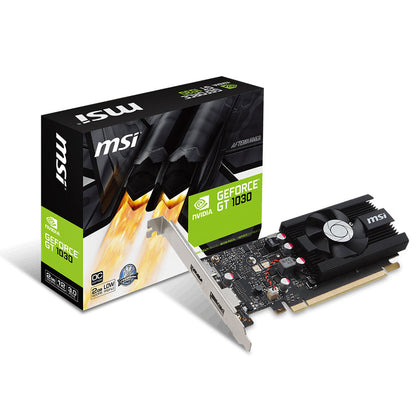 MSI GeForce GT 1030 2G LP OC - 2048 Mo HDMI/DisplayPort - PCI Express (NVIDIA GeForce avec CUDA GT 1030) Low Profile