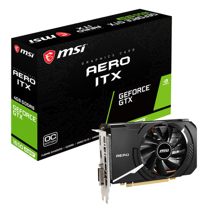 MSI GeForce GTX 1650 SUPER AERO ITX OC - 4 Go GDDR6 - HDMI/DisplayPort/DVI - PCI Express (NVIDIA GeForce GTX 1650 SUPER)