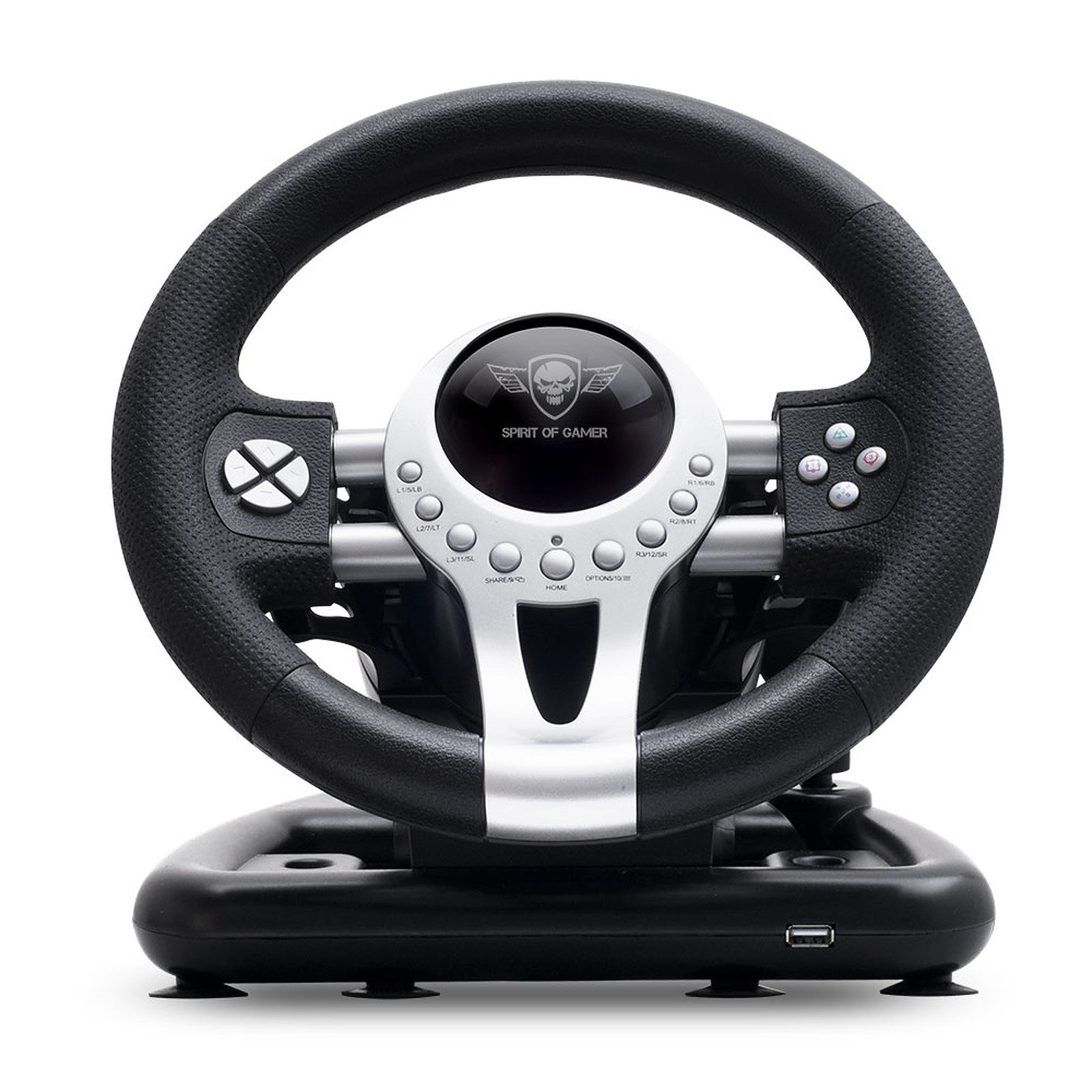 Spirit of Gamer Race Wheel Pro 2 - Ensemble volant + pédalier + levier de vitesse (compatible PC / PlayStation 2 / PlayStation 3)