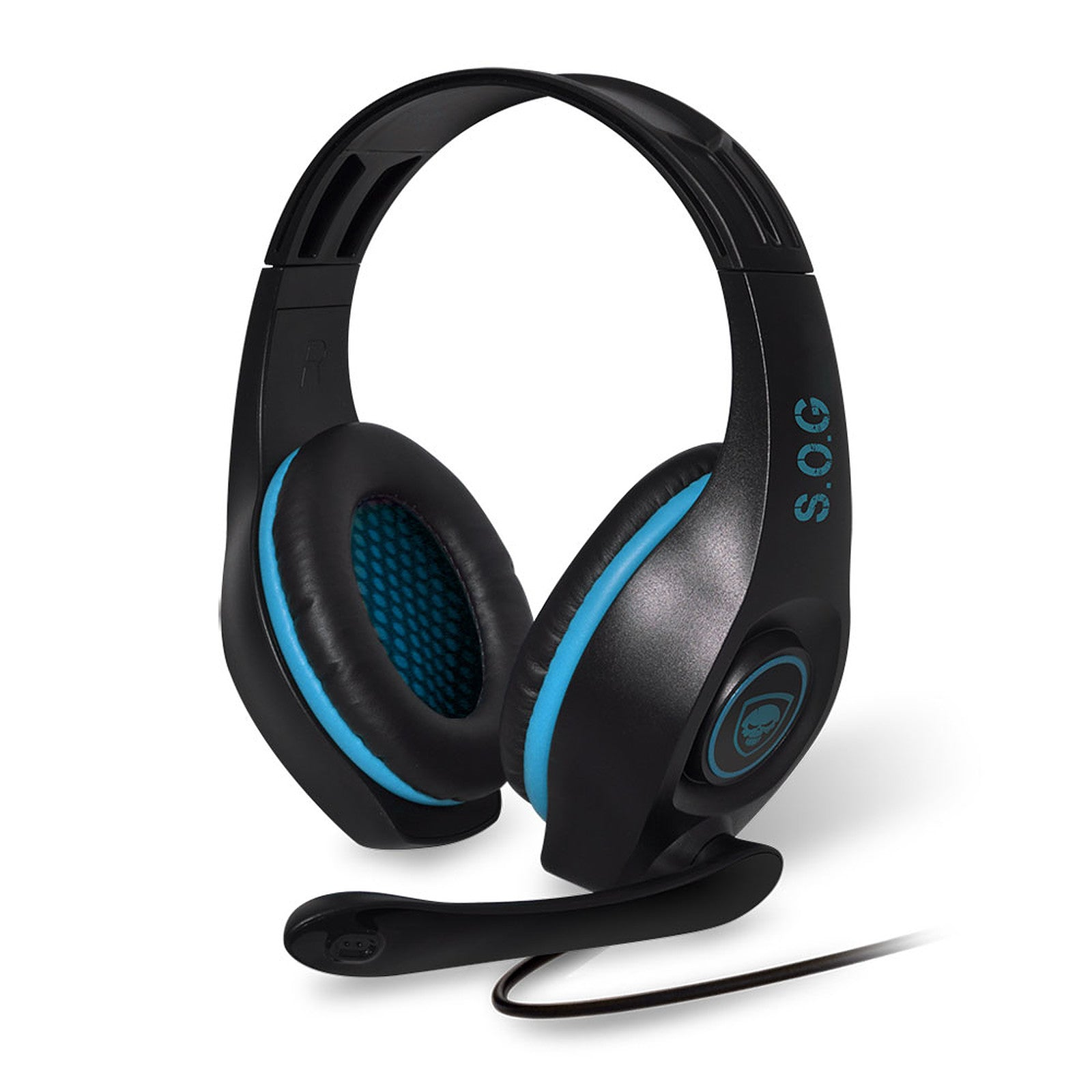 Spirit of Gamer Pro-H5 (Bleu) - Casque-micro pour gamer (compatible PS4 / Xbox One / Nintendo Switch / PC / MAC) Casque Gaming