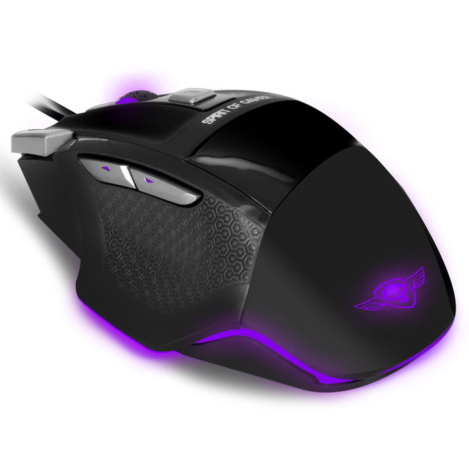 Spirit of Gamer Pro-M8 Light Edition - 3500 dpi - 7 boutons - rétro-éclairage 4 couleurs Souris Gaming