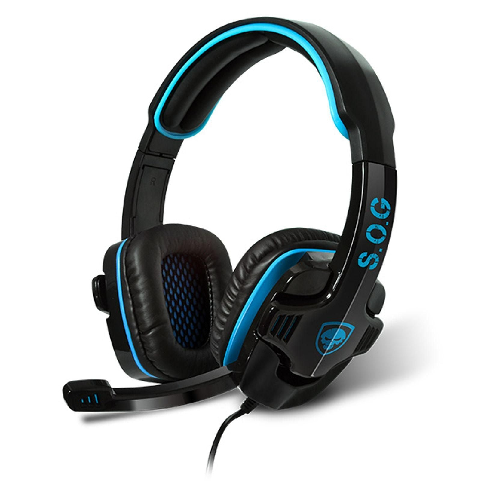 Spirit of Gamer Xpert-H2 - Casque-micro pour gamer son surround 7.1 virtuel (compatible PS3 / PS4 / Xbox 360 / Nintendo Switch / PC) Casque Gaming
