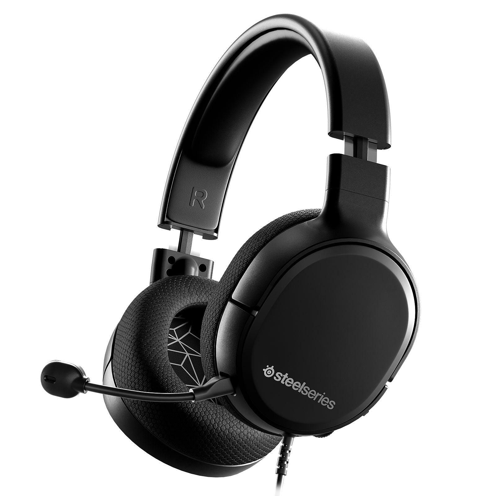 SteelSeries Arctis 1 (noir) - Casque gaming - Circum-aural fermé - Microphone détachable avec suppression du bruit - Jack - Compatible PC/Mac/Mobiles et consoles