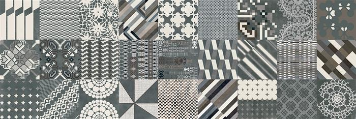 Mutina | Azulej | Combination Nero | 8 X 8