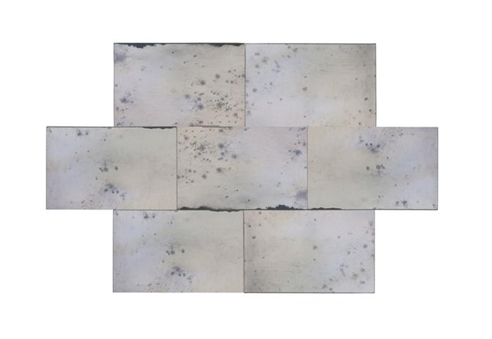 "Antiqued Mirror Glass Tile 3""x12"""