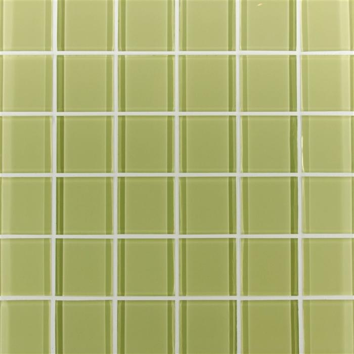 "Green Glacier | Mosaic Glass Tile 2""x2"""