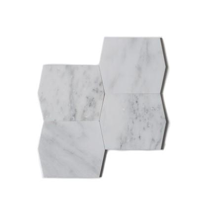 "Mod Picket | Oriental White Marble Honed 4""x5"""