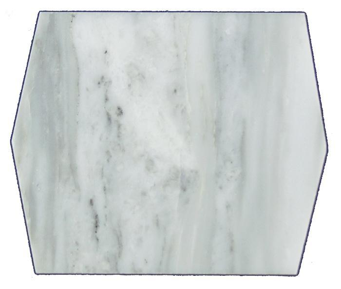 "Mod Picket | Oriental White Marble Polished 4""x5"""