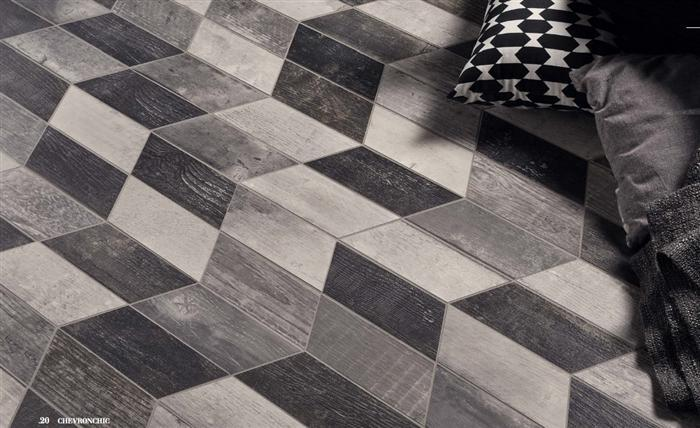 Chevron Chic | Grey, Mini Chevron - Mission Stone & Tile