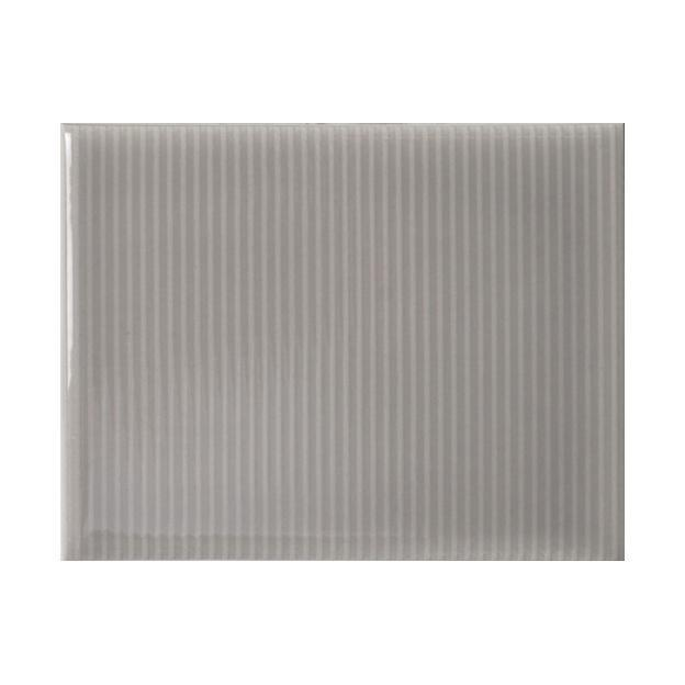 "Vento Grey | Pinstripe | The Essentials | Textured Subway Tile 4""x5"""