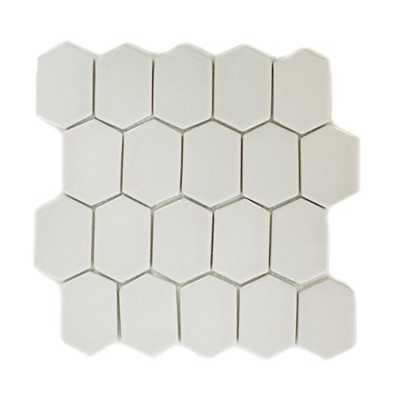 "Ivory Coast | Mod Picket Mosaic | The Essentials | Tile 10""x11"""