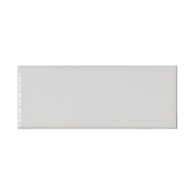 "Whisper White | Honeycomb | The Essentials | Textured Subway Tile 2""x5"""