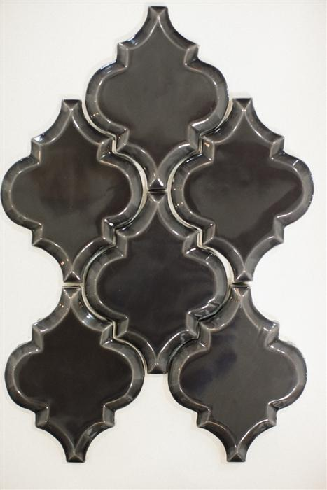 Beveled Arabesque Tile | Swedish Mink