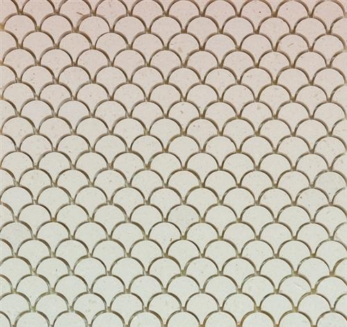 Curve Appeal | Creme Mini | Stone Mosaic for Walls and Floors