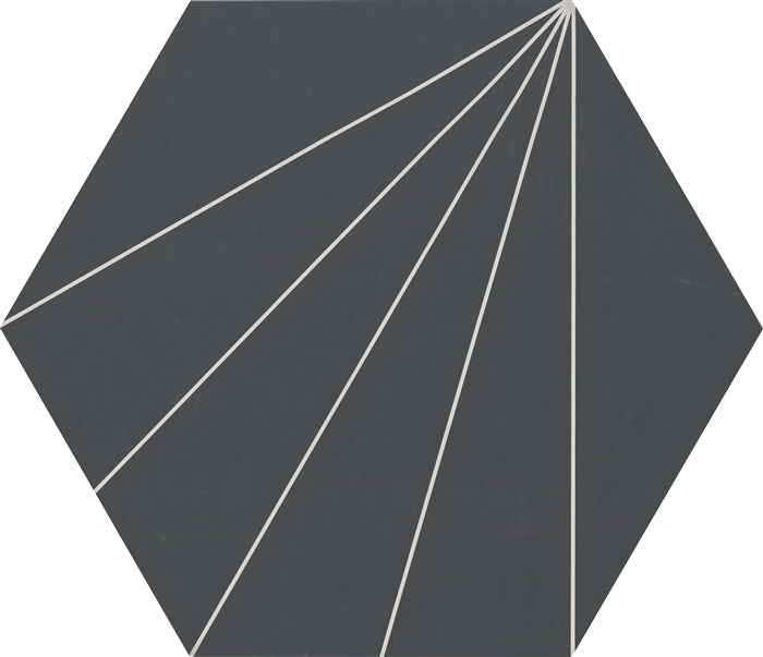 "Electra Grande Midnight | Porcelain Tile | 13.5"" x 15.5"""