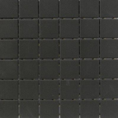 Glazed Porcelain 2 Inch Mosaics | Black - Mission Stone & Tile