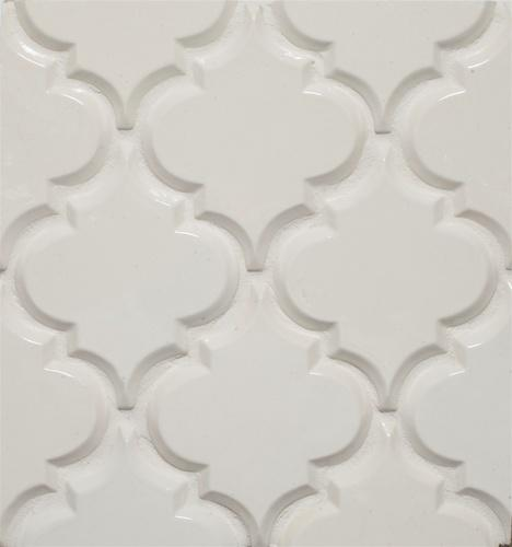 Beveled Arabesque Tile | Ivory Coast
