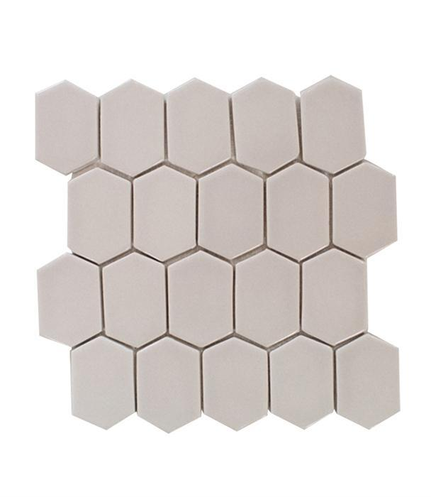 "Oyster Bay | Mod Picket Mosaic | The Essentials | Tile 10""x11"""