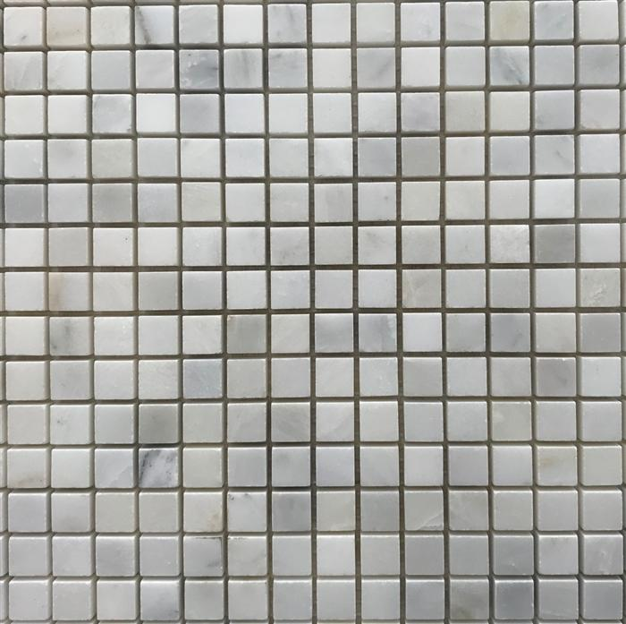5/8 Square Mosaic | Oriental White | Polished - Mission Stone & Tile